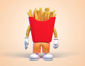 3D Potato Man Character