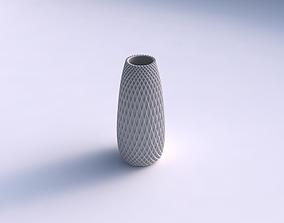 Vase Bullet with grid piramides 2 3D print model