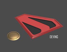 KINGDOM COME SUPERMAN EMBLEM AND BELT 3D printable model