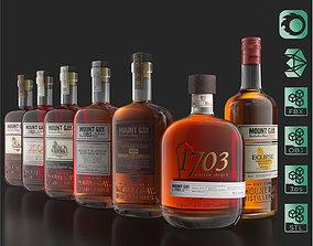 3D model Mount Gay Barbados Rum Bottles Pack 02 Rebrand