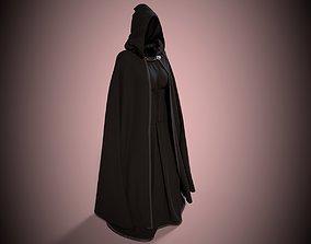 Dark Cloak with Corset 3D rigged
