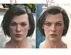 3d model Milla Jovovich head realtime