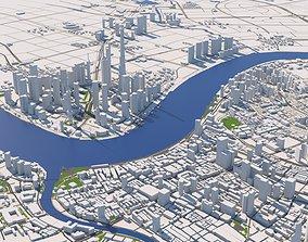 cartography shanghai city center 3d model