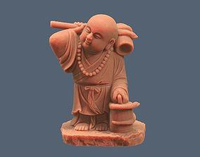 Asian Monk Statue 3D print model