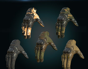 3D asset PBR Military Gloves