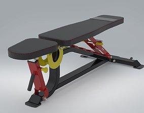 3D model Professional Adjustable Bench CAD Design