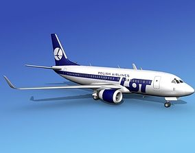 3D model Boeing 737-700ER Lot Polish Airlines