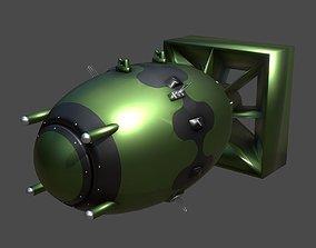 3D asset Fat Man Atomic Bomb MARK III