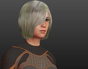 Woman for games and animation 3D model