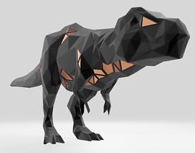 3D print model Polygonal Tyrannosaurus Parametric