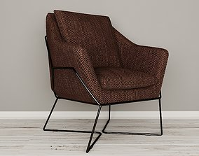 3D Lincoln lounge chair
