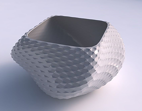 Bowl helix with grid piramides 3D printable model