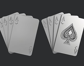 STL models for 3D printing and CNC Four of aces