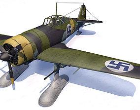 3D model Fokker D-21 - D-XXI - Finnish