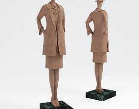 The lady in the coat 3D figurine