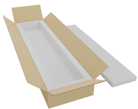 Cardboard Box 3D model low-poly