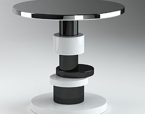3D Black And White Ralph Pucci Table 2
