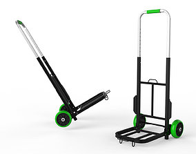 Cart Storage Green 3D