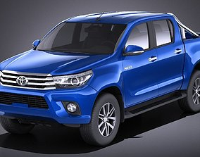 Toyota Hilux Double Cab 2017 VRAY 3D model