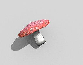 low poly mushroom 1 3D model