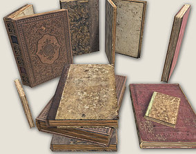 3D asset Aged Books GAME READY