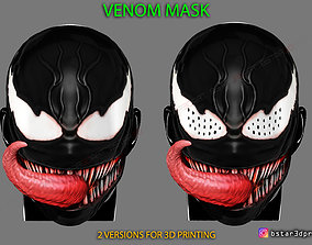 Venom Half Mask - Marvel Cosplay - 3D print model 1