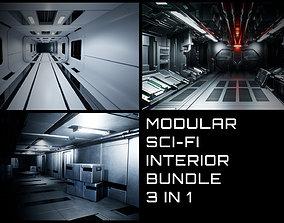 3D asset Modular Sci-Fi Interior Bundle