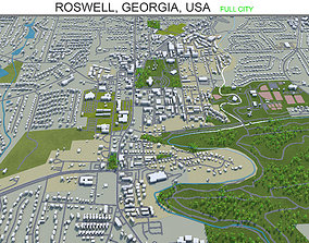 3D model Roswell Georgia USA 40km