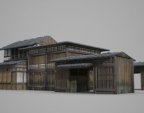 Ancient Buildings Housing Groups and Shops 3D model