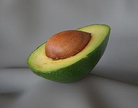 Half Avocado 1 - 3D Scan
