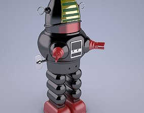 Vintage Japan Robby The Robot Toy 3D model