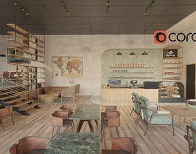 3D Take Away Cafe Design