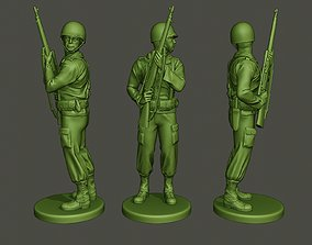 3D printable model American soldier ww2 Stand Cover A5