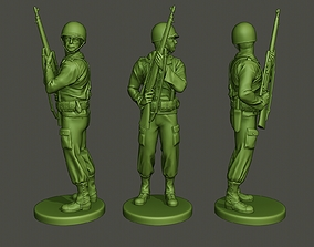 3D print model American soldier ww2 Stand Cover A5