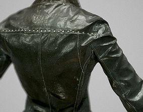 Black Leather Girl Clothing 3D model