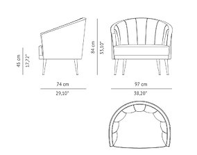 Maya armchair 3D print model