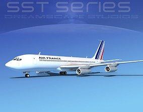 3D Boeing 707-320 SS Air France 1