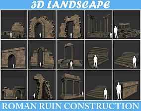 Low poly Ancient Roman Ruin Construction Pack 3D model 4