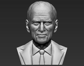 Prince Philip bust 3D printing ready stl obj