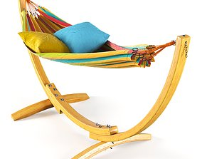 Hammock in stand 3D