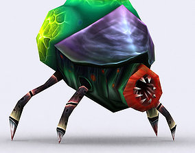 animated 3DRT - Insectoid Monster Tick