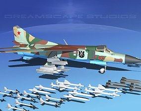 3D Mig 23 Flogger B V07 Russia