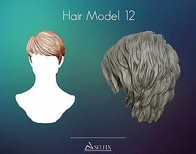 Hairstyle model 12 3D print model 3D print model