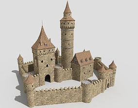 3D model medieval castle 2