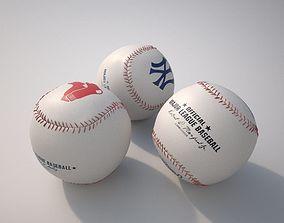 Baseball 3D model PBR