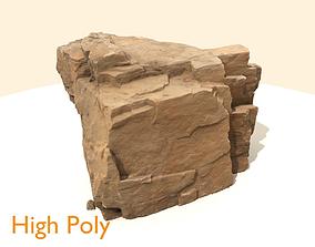 3D asset Scanned Big Cliff Rock