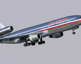 3D model McDonnell Douglas DC-10 American Airlines