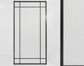 Glass partition door 67 3D asset