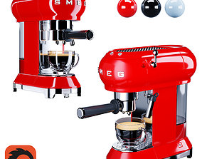 3D Smeg Coffee Machine