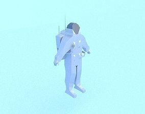 Low poly astronaut 3D asset